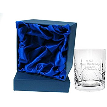 Personalised Crystal Whisky Tumbler in Silkbox