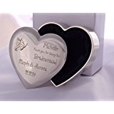 Bridesmaid Heart Trinket - Personalised Laser Engraving