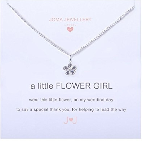 a Little Flower Girl Necklace