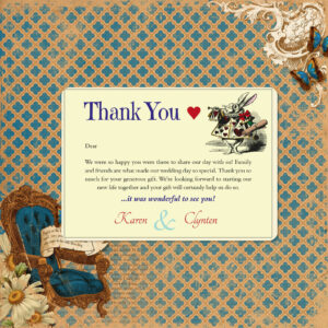 Vintage Alice on Ivory Card - Thank You Cards