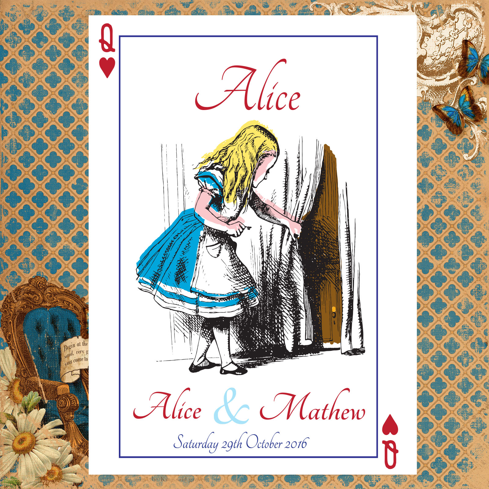 Vintage Alice in Wonderland - Table Name Cards