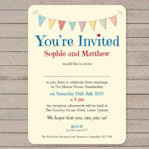Festival on Ivory Card - Day Invitation
