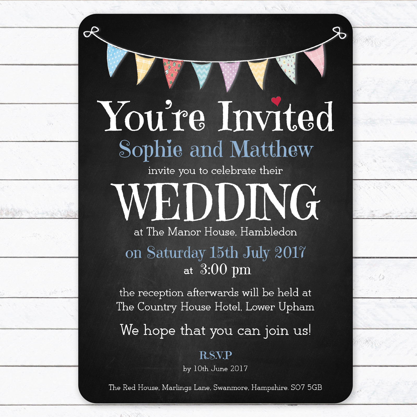 Festival on Chalkboard - Day Invitation