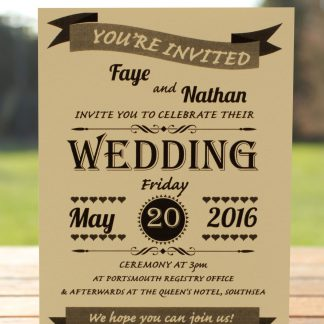 Wedding Fete on Ivory Card - Day Invitation