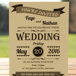 Wedding Fete on Ivory Card - Evening Invitation
