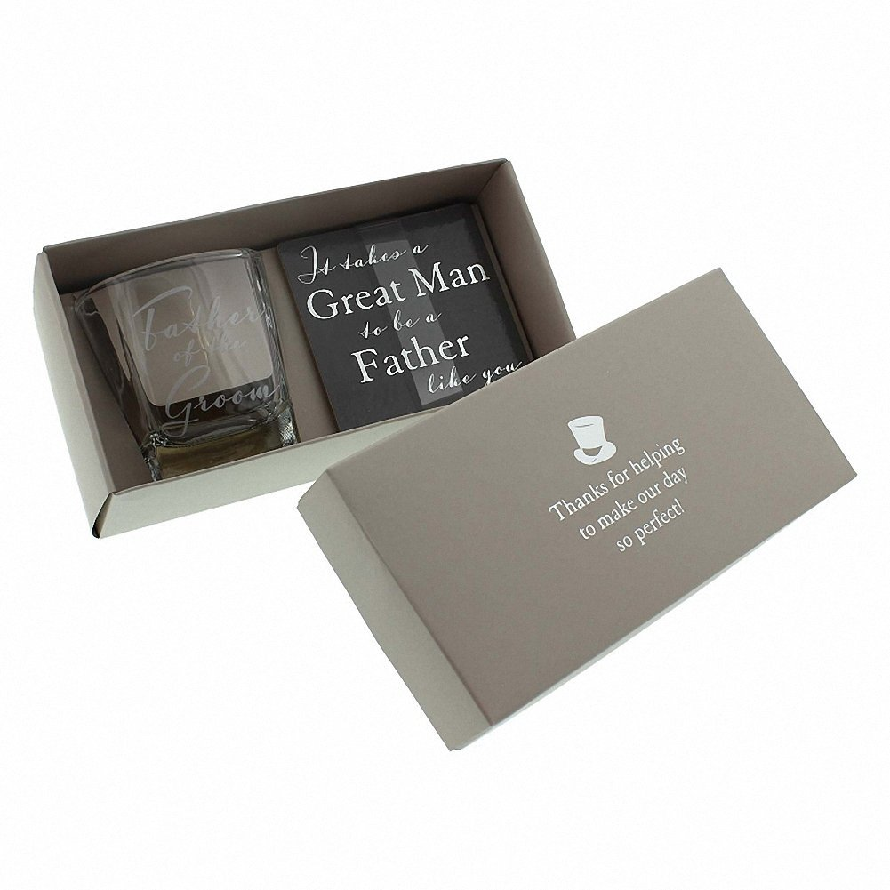 Amore by Juliana Whisky Glass & Coaster Father of the Groom Wedding Gift Set