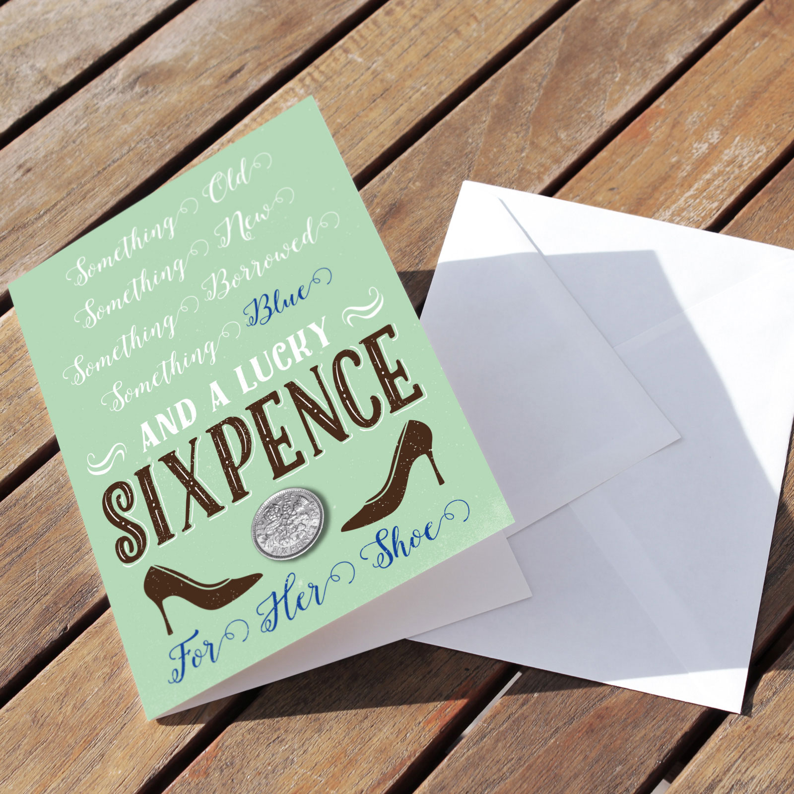 Celebration Mint - Lucky Sixpence Card