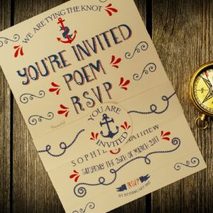 Nautical Blue and Red on Ivory Card - 3 Card Set