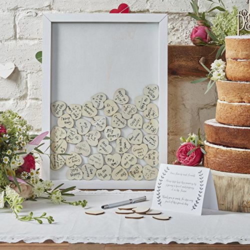 Drop Top Wooden Frame Alternative Wedding Guest Book