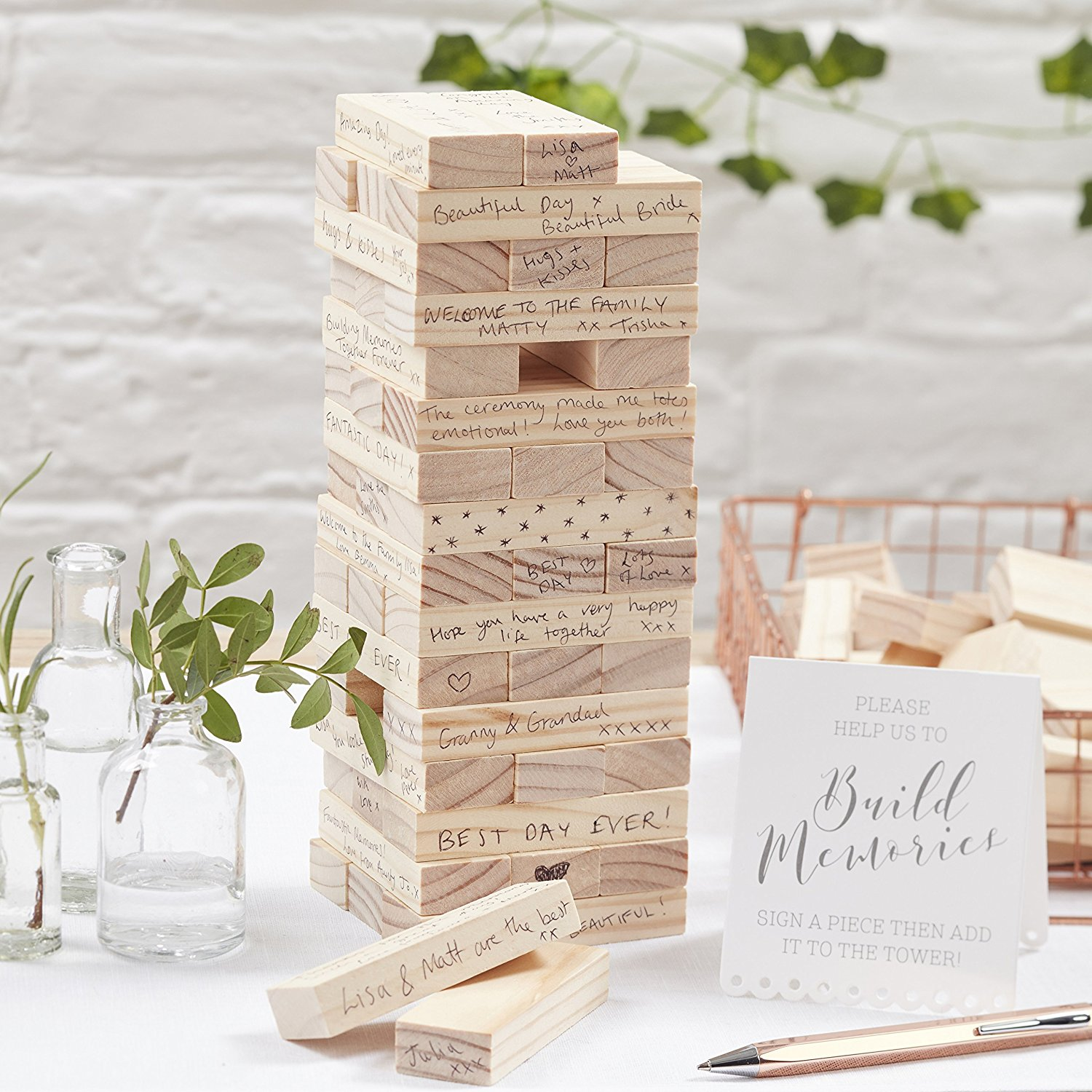 Build A Memory Block Alternative Wedding Guest Book