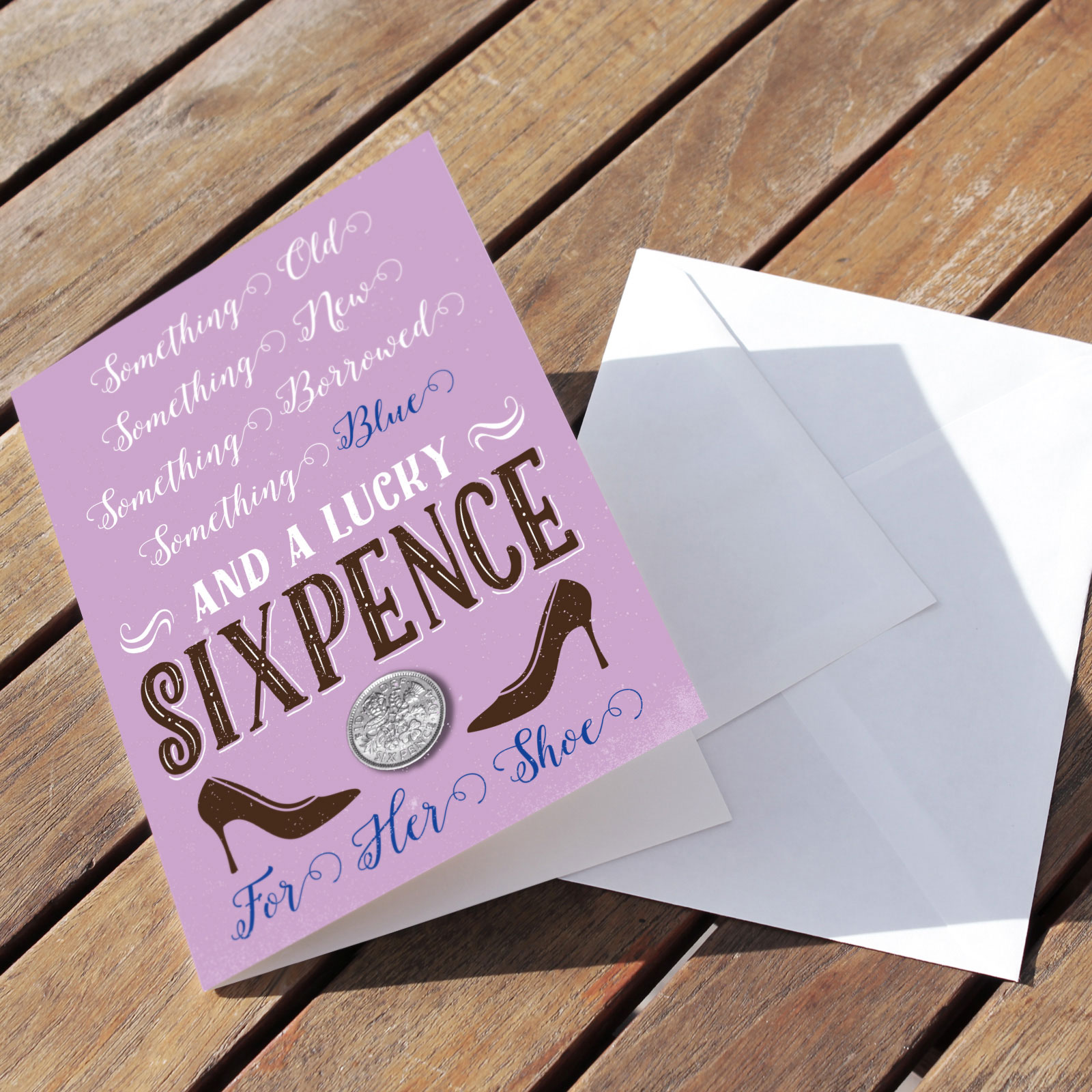 Celebration Lilac - Lucky Sixpence Card