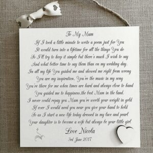 Mother of The Bride Wedding Shabby Chic Sign Wooden Plaque Gift
