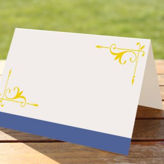 Wedding Fete Royal Blue & Yellow - Place Name Cards
