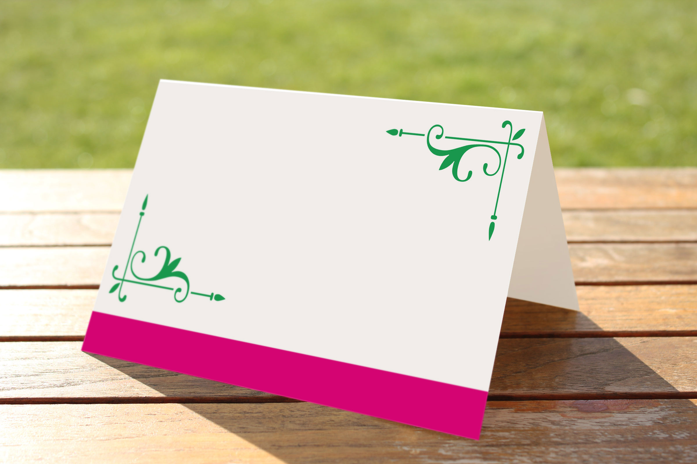Wedding Fete Fuchsia Pink & Green - Place Name Cards