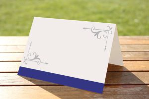 Wedding Fete Navy Blue & Silver - Place Name Cards