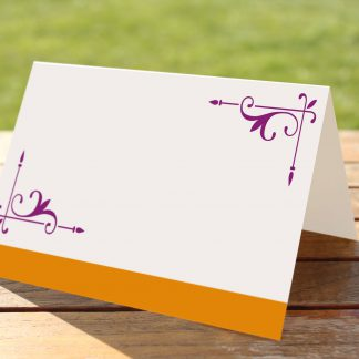 Wedding Fete Burnt Orange & Purple- Place Name Cards