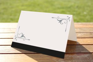 Wedding Fete on White Card - Place Name Cards