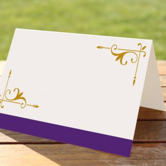 Wedding Fete Cadbury Purple & Gold - Place Name Cards