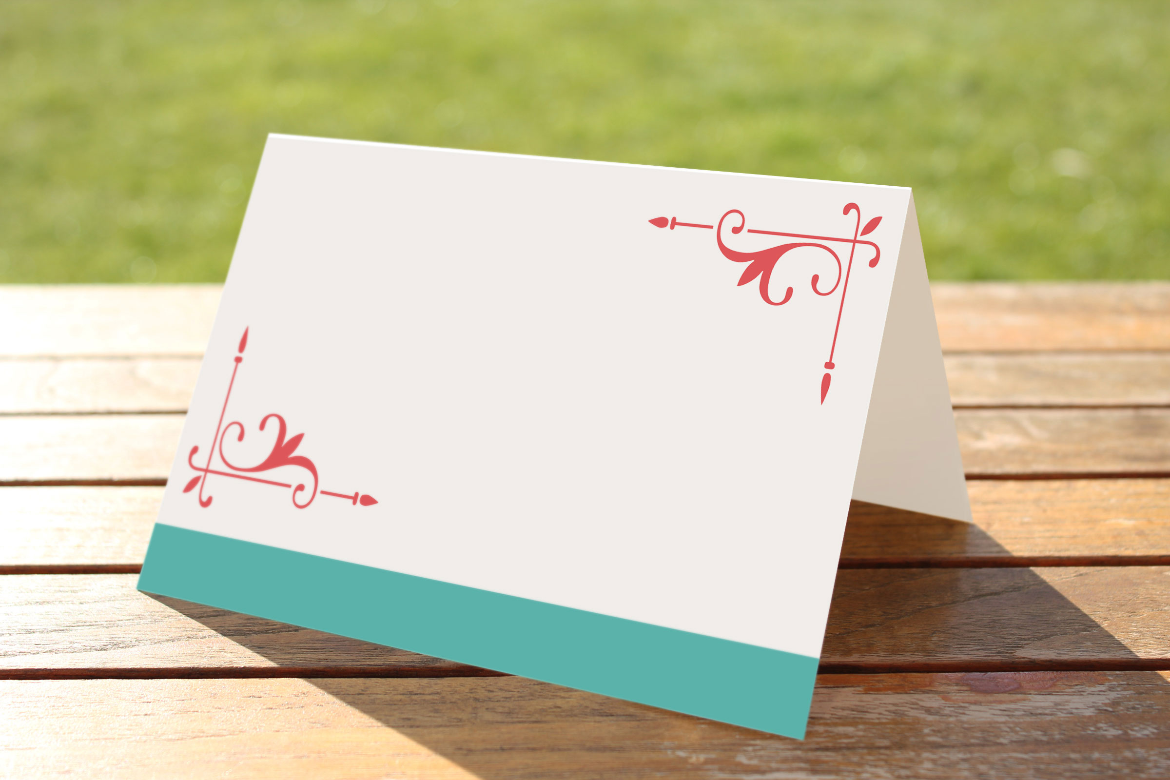 Wedding Fete Turquoise & Coral - Place Name Cards