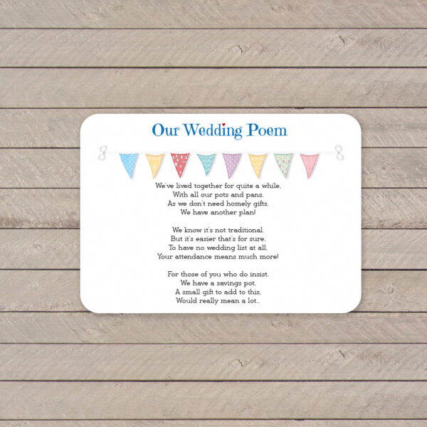 Festival on White Card - Poem Card