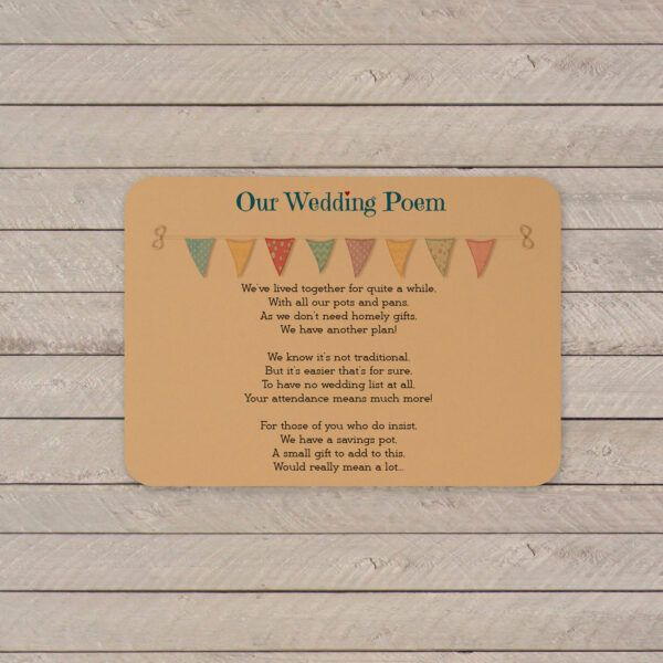 Festival on Buff Card - Poem Card
