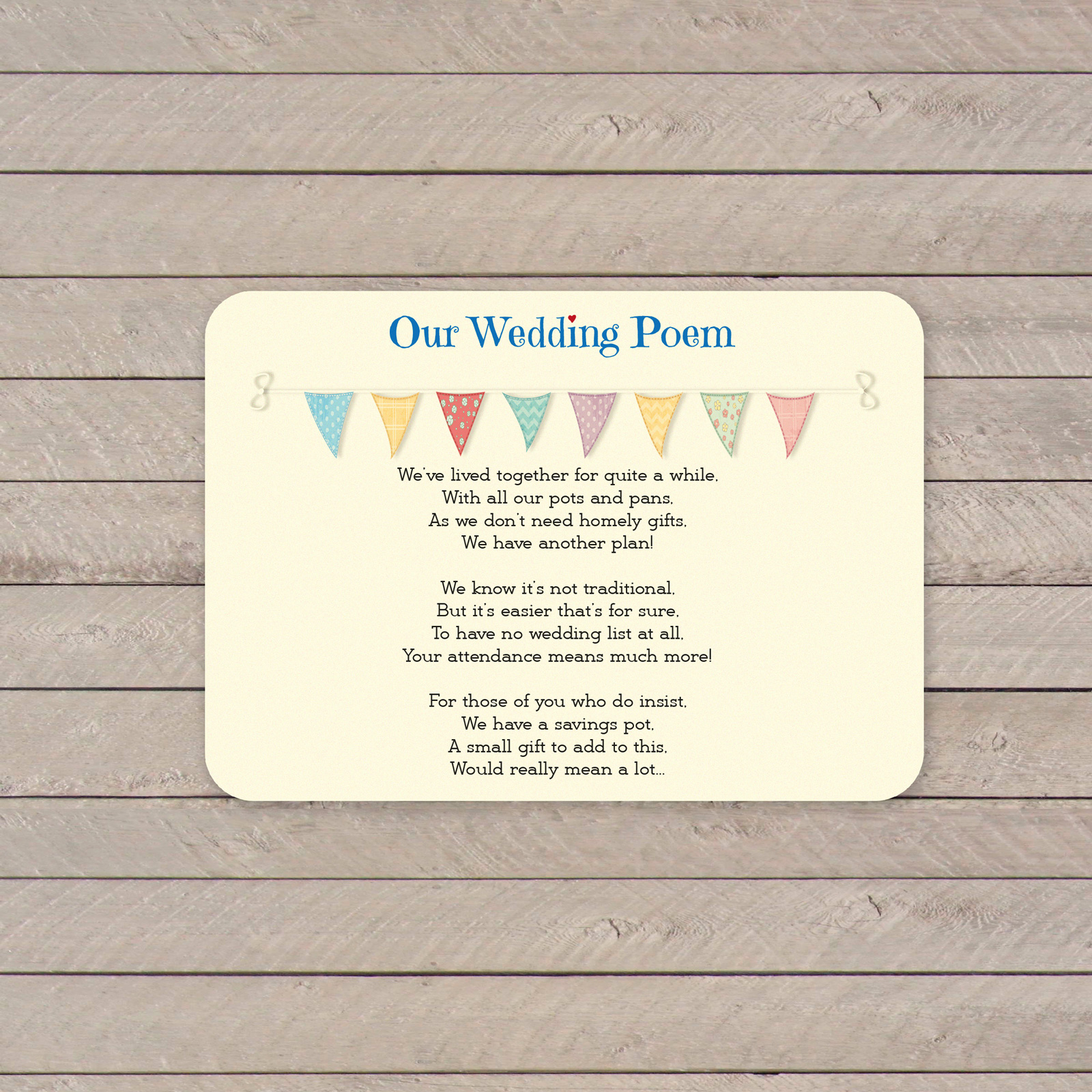 Festival on Ivory Card - Poem Card