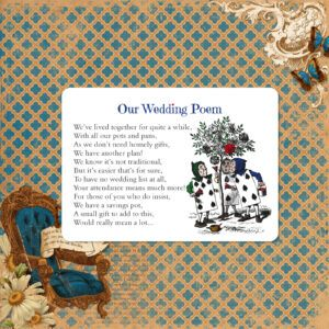 Vintage Alice on White Card - Poem Card