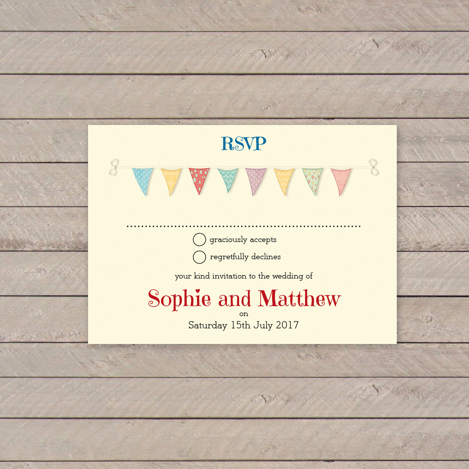 Festival on Ivory Card - RSVP Postcards