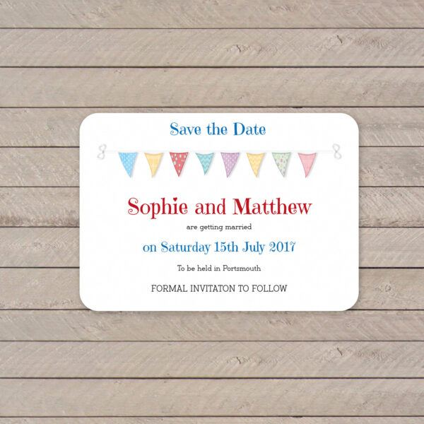 Festival on White Card - Save the Date Cards