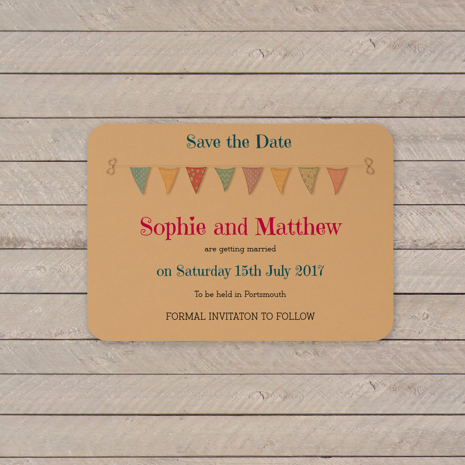 Festival on Buff Card - Save the Date Cards