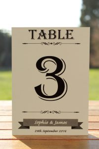 Wedding Fete on Ivory Card - Table Name Cards