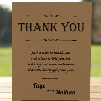 Wedding Fete on Buff Card - Thank You Card