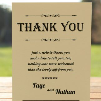 Wedding Fete on Ivory Card - Thank You Card