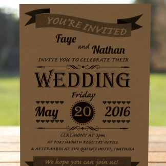Wedding Fete on Buff Card - Day Invitation