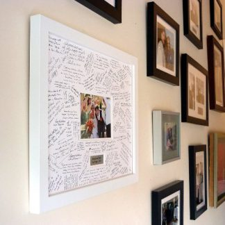 Personalised Wedding Guest Book Frame - White