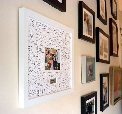 Personalised Wedding Guest Book Frame White