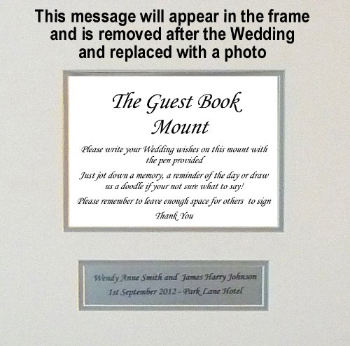 Personalised Wedding Guest Book Frame – White | Feel The Magic Ltd.