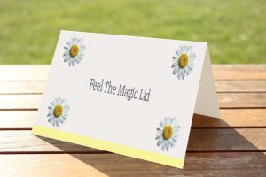 Flower Garden Daisy Yellow - Place Name Cards