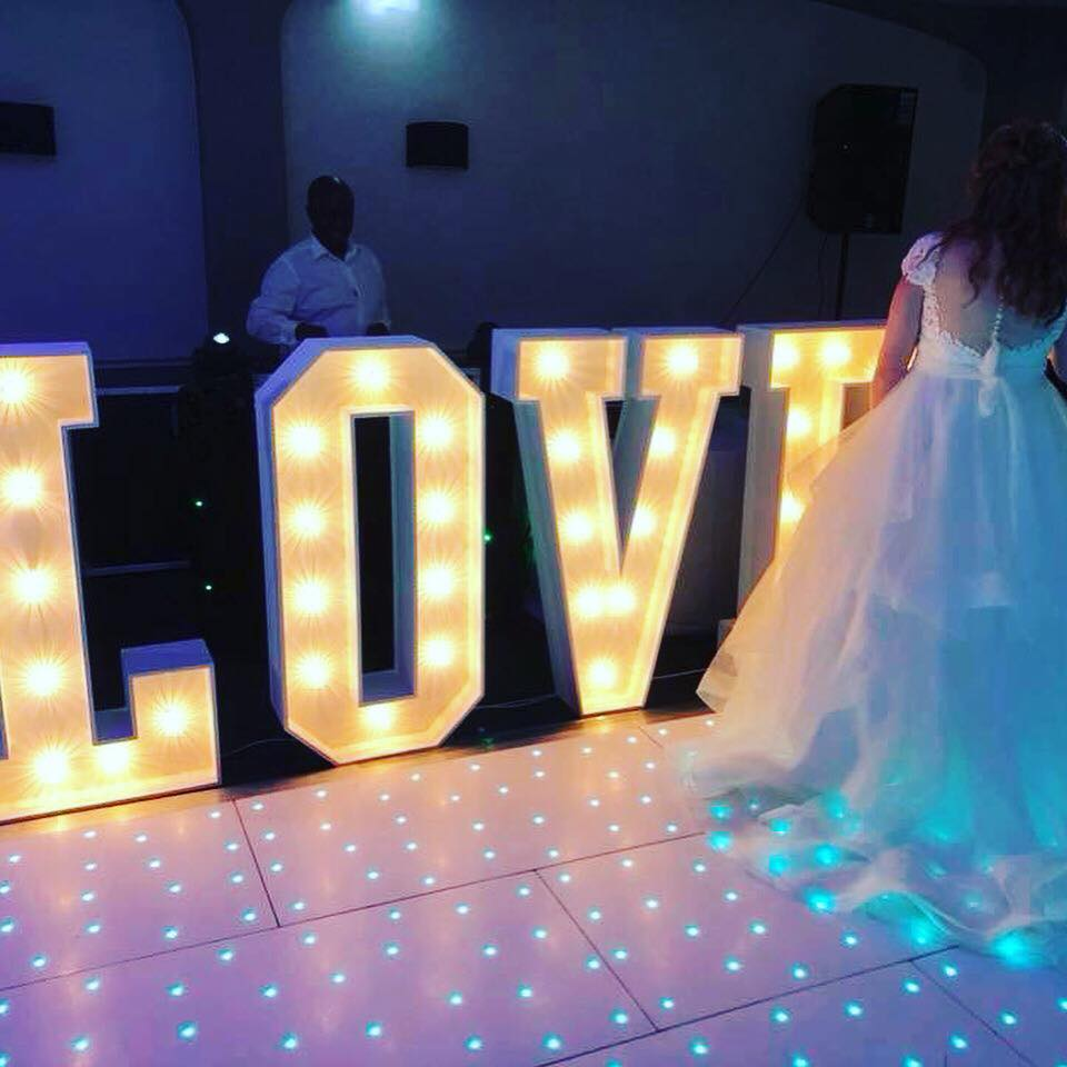 Light Up LOVE Letters - Hire